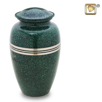Classic Speckled Emerald Urn