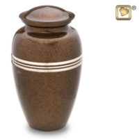 Classic Speckled Auburn Urn