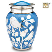 Silver Blessing Birds Urn