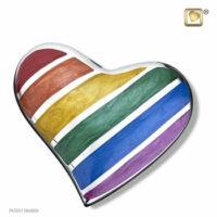 Rainbow Heart Urn