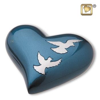 Flying Doves Heart Urn