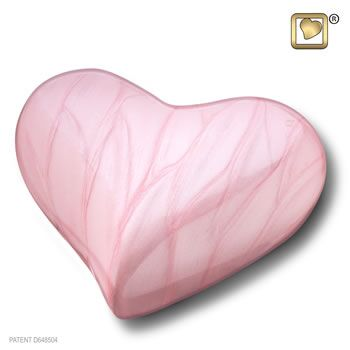 Pink Pearl Heart Urn