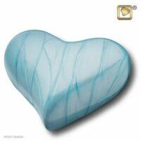 Blue Pearl Heart Urn