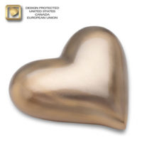 Gold (brushed) Heart Urn