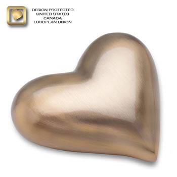 Gold (brushed) Heart Urn
