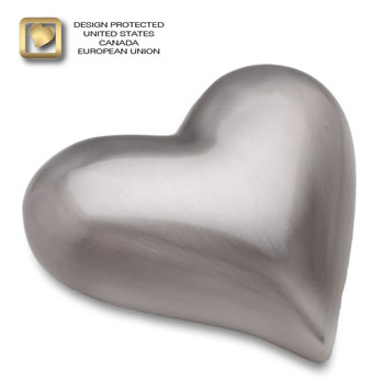 Pewter (brushed) Heart Urn