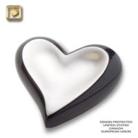 Pewter Midnight (brushed) Heart Urn