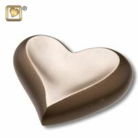 Auburn Gold Heart Urn