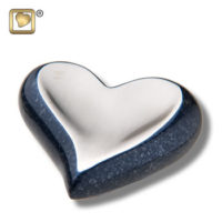 Speckled Indigo Heart Urn
