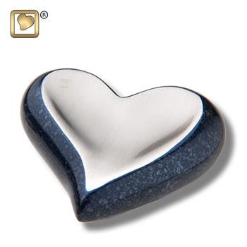 Speckled Indigo Heart Urn