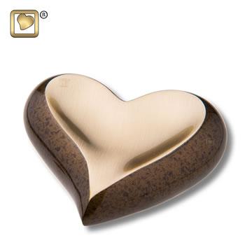 Gold Bronze (hammered) Heart Urn