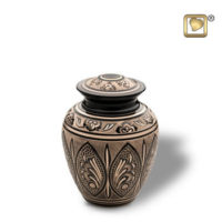 Black and Gold Urn - Medium