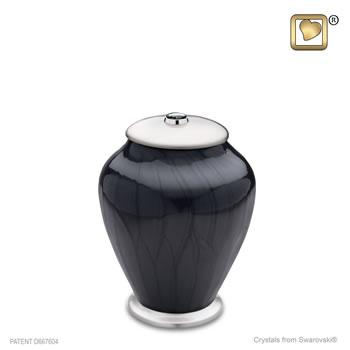 Simplicity Pearl Midnight Urn - Medium (with Swarovski elements)
