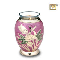 Tealight Lilac Rose Keepsake Urn