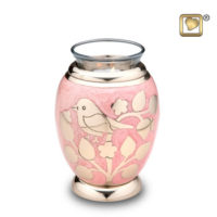 Tealight Gold Blessing Birds Keepsake Urn