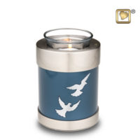 Tealight Flying Doves Keepsake Urn