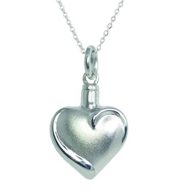 Fancy Heart Pendant - Sterling Silver