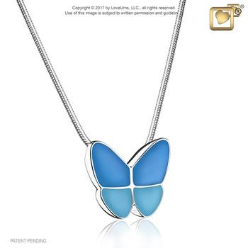 Wings of Hope Pendant - Blue
