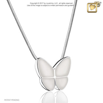 Wings of Hope Pendant - Pearl