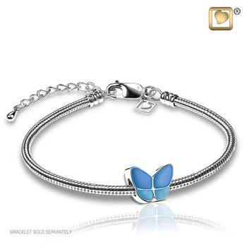 Wings of Hope Bead - Blue