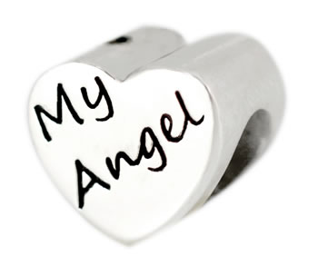 Keepsake Bead - My Angel (heart-shaped)