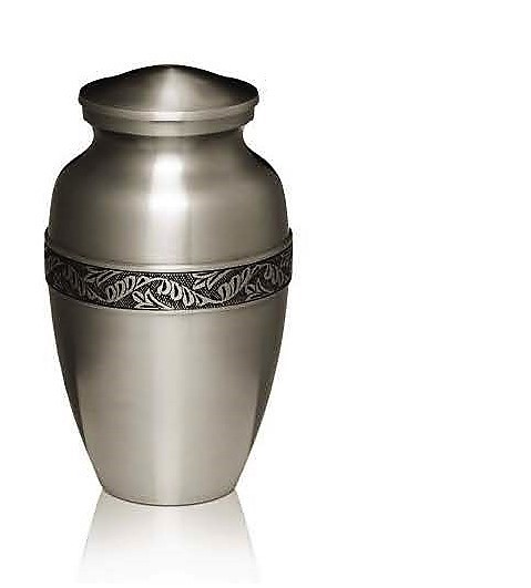 Classic Brushed Pewter Urn