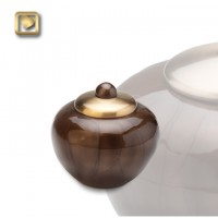 Simplicity Bronze Round Keepsake Urn