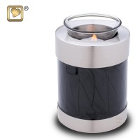 Tealight Midnight Pearl Keepsake Urn