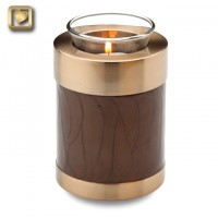 Tealight Bronze Pearl Keepsake Urn