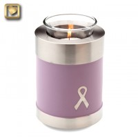 Awareness Pink Tealight Urn